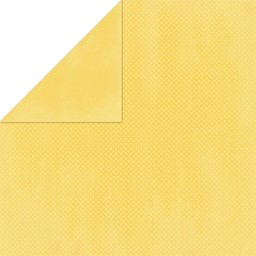 "Bild von BoBunny Double Dot Double-Sided Textured Cardstock 12""X12""-Buttercup"