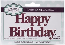 Bild von Creative Expressions Craft Dies By Sue Wilson-Noble Expressions- Happy Birthday