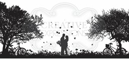 Bild von Creative Expressions Designer Boutique Pre Cut Rubber Stamp-Love Is In The Air
