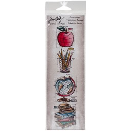 "Bild von Tim Holtz Mini Blueprints Strip Cling Stamps 3""X10""-Schoolhouse"
