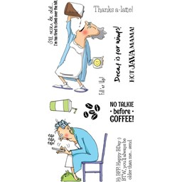 Bild von Art Impressions Stempel Clear Stamps-Hot Java Mama