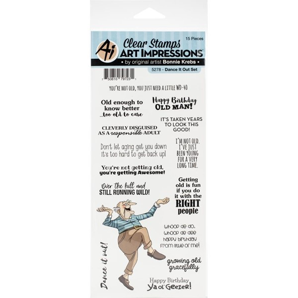Bild von Art Impressions Stempel Laugh Lines Stamp-Dance It Out