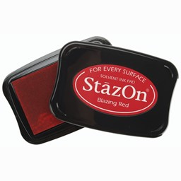 Bild von StazOn Solvent Ink Pad-Blazing Red