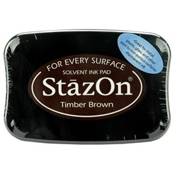 Bild von StazOn Solvent Ink Pad-Timber Brown