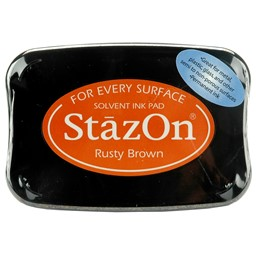 Bild von StazOn Solvent Ink Pad-Rusty Brown