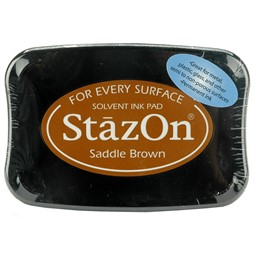 Bild von StazOn Solvent Ink Pad-Saddle Brown