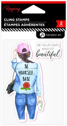 Bild von Hampton Art Be Yourself, Babe Rubber Stamps