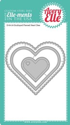 Bild von Elle-Ments Dies-Scalloped Pierced Hearts