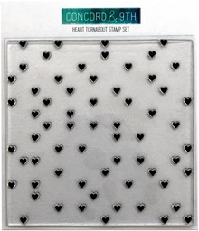 "Bild von Concord & 9th Clear Stamps 6""X6""-Heart Turnabout"