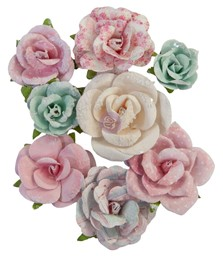 Bild von Prima Marketing Mulberry Paper Flowers-All My Heart/With Love