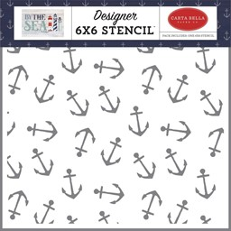 "Bild von Carta Bella Stencil 6""X6""-Anchor, By The Sea"