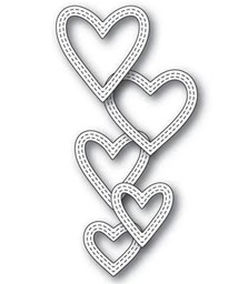 Bild von Memory Box Dies-CLASSIC DOUBLE STITCHED HEART RINGS