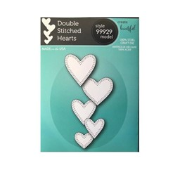 Bild von Memory Box Dies-DOUBLE STITCHED HEARTS