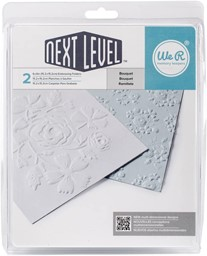 "Bild von  We R Next Level Embossing Folders 6""X6"" 2/Pkg-Bouquet"