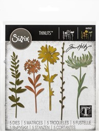 Bild von Sizzix Thinlits Dies By Tim Holtz-Wildflower Stems #1