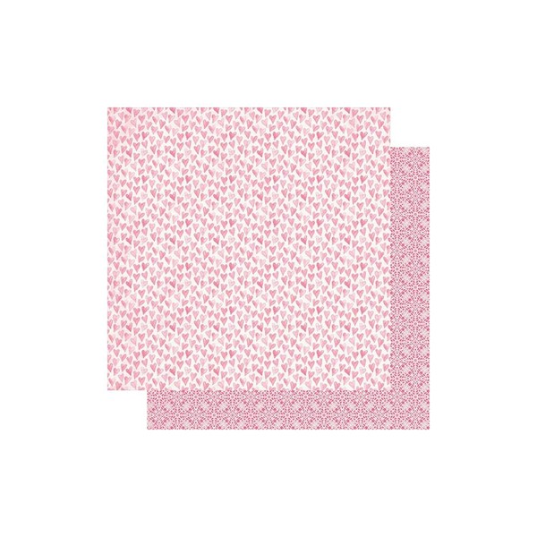 "Bild von Flawless Double-Sided Cardstock 12""X12""-#5 Pink Watercolor Hearts"