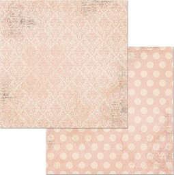 "Bild von BoBunny Double Dot Damask Double-Sided Cardstock 12""X12""-Dusty Rose"