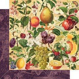 "Bild von Fruit & Flora Double-Sided Cardstock 12""X12""-Nature's Bounty"