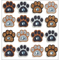 Bild von Jolee's Cabochon Dimensional Repeat Stickers-Paw Prints
