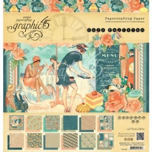 Bild von Graphic 45 Designblock Papierblock Cafè Parisienne Collection