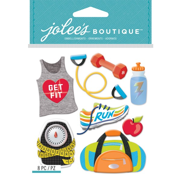 Bild von Jolee's Boutique Dimensional Stickers-Get Fit