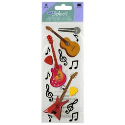 Bild von Touch Of Jolee's Dimensional Stickers-Guitars & Music Notes