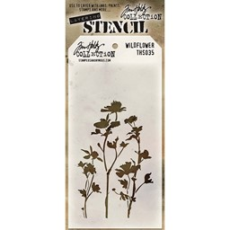 "Bild von Tim Holtz Layered Stencil 4.125""X8.5""-Wildflower"