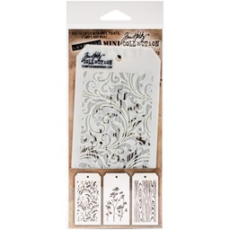 Bild von Tim Holtz Mini Layered Stencil Set 3/Pkg-Set #10