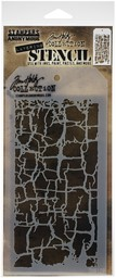 "Bild von Tim Holtz Layered Stencil 4.125""X8.5""-Decayed"