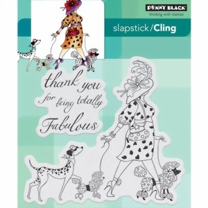 Bild von Penny Black Cling Stamp TOTALLY FABULOUS Stempel
