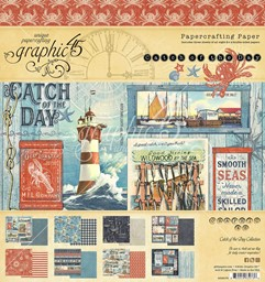 "Bild von Graphic 45 Double-Sided Paper Pad 8""X8"" 24/Pkg-Catch Of The Day"