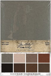"Bild von Idea-Ology Kraft-Stock Stack Cardstock Pad 6""X9"" 24/Pkg-Neutral, 8 Colors/3 Each"