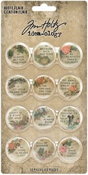 Bild von Idea-Ology Quote Flair Buttons 12/Pkg-
