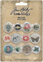 Bild von Idea-Ology Mini Flair Buttons 12/Pkg-